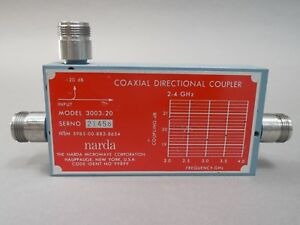 Narda 3003 20 Coaxial Directional Coupler 2 4 Ghz Used