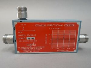 Narda 3043b 10 Coaxial Directional Coupler 1 7 4 2 Ghz Used