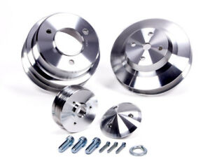 March Performance 7630 Aluminum Serpentine Performance Pulley Kit Fits Bbc