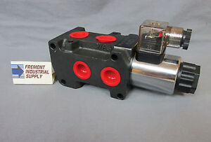 Hydraulic Solenoid Operated Selector Diverter Valve 12 Volt Dc 18 Gpm 10 Sae