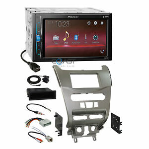 Pioneer 2018 Usb Bluetooth Stereo Silver Dash Kit Harness For 08 11 Ford Focus