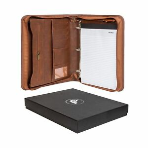 Forevermore Portfolio Padfolio With Zippered Closure Removable 3 Ring Bi New