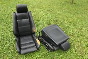 Bmw E30 Black Leather Sport Seats 325i Convertible 325is 325ix Pick Up Only Pa