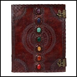 Seven Chakra Leather Journal Handmade Paper Diary Notebook Journal For New