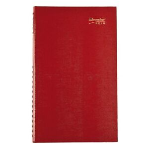 Brownline 2019 Coilpro Daily Planner Hard Cover Red 13 5 X 7 875 Inche New