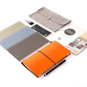 Pu Leather Multifunctional Traveler s Notebook Planner Book Stationery Gift
