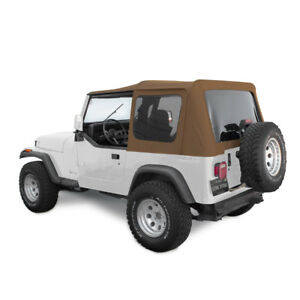 Jeep Soft Top For 88 95 Wrangler Yj W tinted Windows In Spice Denim