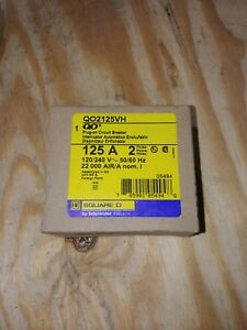 New Square D Qo2125vh 2 Pole 125a Plug On Circuit Breaker 22k