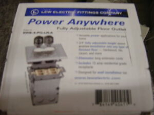 Lew Electric Swb 4 pq lr a Floor Box Stainless Steel Cover 2 Gang