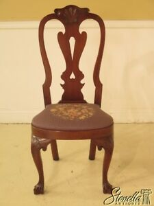 43922ec Kittinger Cw 146 Colonial Williamsburg Mahogany Needlepoint Chair