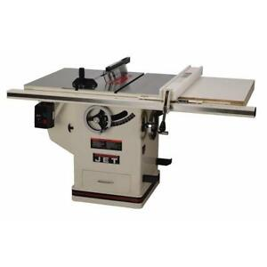 Jet Deluxe Xacta Saw Table Saw Stationary 30 In Fence Cast Iron Wings 5 Hp 10in
