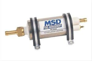Msd 2225 Fuel Pump Electric High pressure External Inline Universal Ea