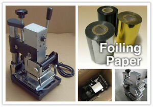 New Manual Desktop Hot Foil Stamper Stamping Machine Tipper Bronzing Pvc Cards