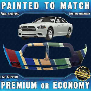 New Painted To Match Front Bumper Cover Exact Fit For 2011 2014 Dodge Charger