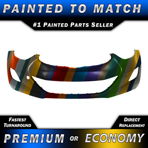 New Painted To Match Front Bumper Cover Fascia For 2011 2013 Hyundai Elantra