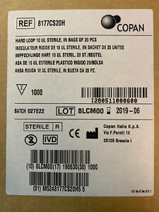 1000 Copan Calibrated Disposable Inoculating Loops 10ul Exp 6 2019 Brand New