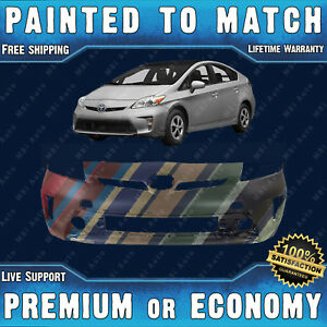 New Painted To Match Front Bumper Cover Replacement For 2012 2015 Toyota Prius