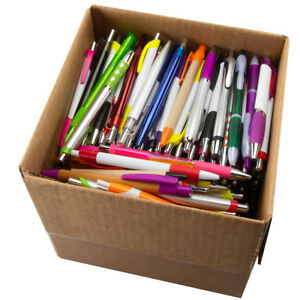 5lb Box Ballpoint Pens Bulk Click Black Ink Retractable Assorted Plastic