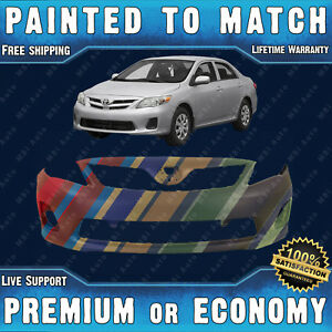 New Painted To Match Front Bumper Cover For 2011 2013 Toyota Corolla Ce Le 11 13