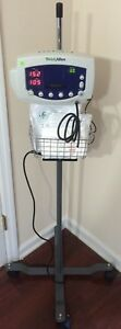 Welch Allyn 300 Series 53xxx Vital Signs Monitor Blood Pressure Nibp Bp Iv Stand