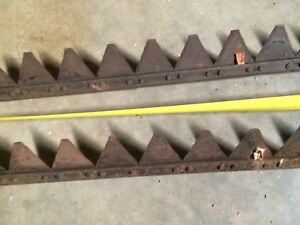 Ih Farmall Cub set Of Two Bars c 22 Sickle Bar Mower Blade vintage 4 1 2 Feet
