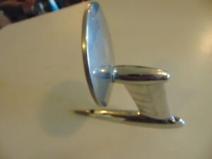Vintage Chrome Round Side Rear View Car Truck Mirror Left Side