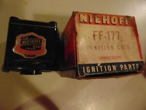 Vintage Niehoff Ignition Coil Ff 177 1940 1950 Ford