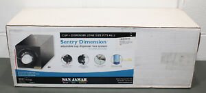 San Jamar Adjustable Cup Dispenser C2951bk Sentry Dimension Box System Black