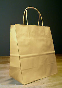 10x5x13 Kraft Brown Paper Debbie Retail Shopping Gift Bags With Rope Handles