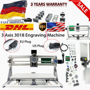 3 Axis Diy Cnc 3018 Engraving Carving Pcb Milling Machine Router Engraver Dhl Eu