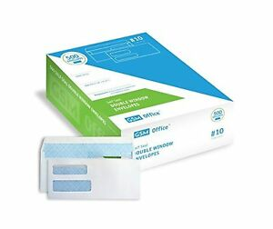 Self Seal Double Window Security Envelopes 10 Box Of 500 For Invoices