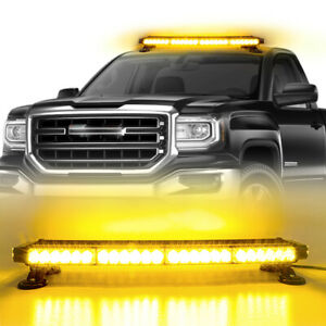 54led Emergency Traffic Advisor Double Side Caution Strobe Light Bar amber