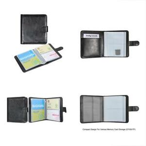 Business Card Holders Book Organizer Premium Pu Leather Wallet Name Credit Id