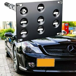 Tow Hook License Plate Bracket Holder For Mercedes Benz C E Gla Glc Gle Ml Class