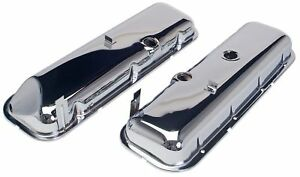 Chevrolet Chrome Cheater Valve Covers Slant Bbc 396 427 454 New 1 2 Taller Stk
