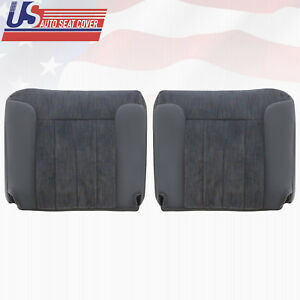 1994 1996 Dodge Ram 2500 Passenger And Driver Bottom Cloth Seat Covers In Gray
