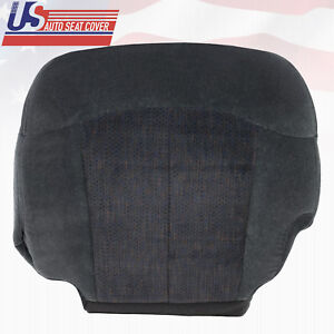 2002 Chevy Silverado 1500 2500 3500 Front Driver Bottom Cloth Seat Cover Dk Gray