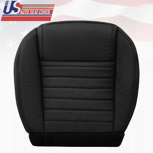 2008 To 2009 Mustang Gt Shelby Deluxe Passenger Bottom Leather Seat Cover Black