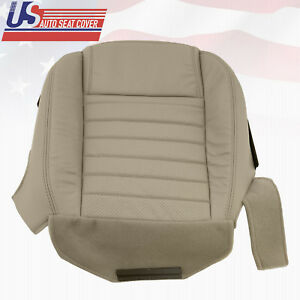 2005 2007 Ford Mustang Passenger Bottom Leather Oem Seat Cover Med parchment Tan