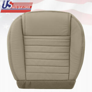 2005 2006 Mustang Gt Gt Lux Driver Bottom Leather Seat Cover Med Parchment Tan
