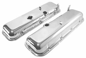 Chevrolet Chrome Cheater Valve Covers Bbc 396 427 454 New 1 2 Taller Stk