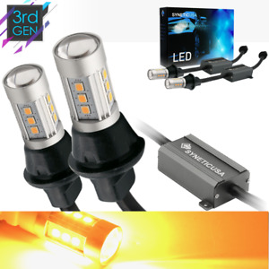 3157 Led Error Free Canbus Turn Signal Parking Light Bulbs Amber Wired Resistor