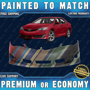 Painted To Match Front Bumper Cover Replacement 2012 2013 2014 Toyota Camry Se