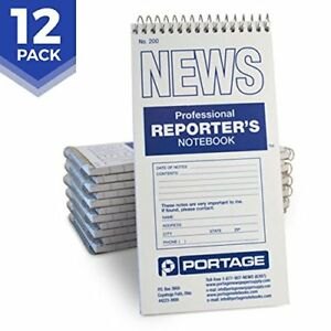 Portage Reporter s Notebook 200 Gregg Ruled 4 X 8 Professional Spiral For