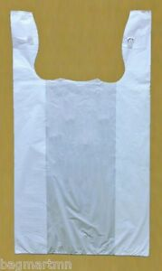 1500 8x5x15 White 1 10 Small Retail High Density Plastic T shirt Bags