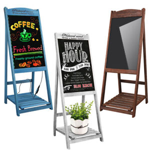 Sidewalk Menu Chalkboard Sign Board Message Easel Shelf For Restaurant Wedding