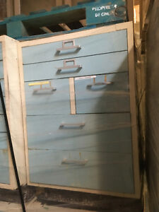 Light Blue 2 Wide X 36 Tall X 22 Deep Laboratory Casework Cabinets Only