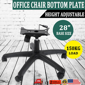 New 28 Office Chair Bottom Plate Cylinder Base 5 Casters 360 Seat Kit 350 Lbs