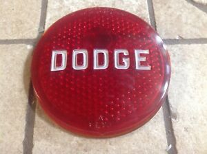 Early Dodge Red Glass Taillight Stop Lens Vintage Auto Truck Plymouth