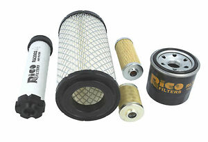 Filter Service Kit Fits Takeuchi Tb108 Tb016 Tb014 Mini Diggers Excavators